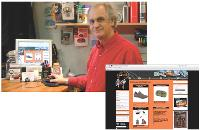 Grâce à deux sites web, Michel Moreau développe sa clientèle.