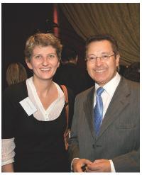 Tatiana Tauziet (GDF Suez) et Filadelfo Valène (Income International)