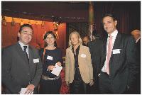 Christophe Poissonnier (Ciel), Sophie Plaisance (APCM), Elisabeth de Dieuleveult (APCM) et Hervé Lenglart Commerce Magazine)