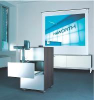 Haworth a créé un centre multimédia mobile, baptisé Mediacar, pour loger tous les médias de présentation usuels: ordinateur portable, vidéoprojecteur, rétroprojecteur...