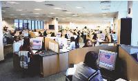 Un centre d'appels à l'île Maurice. Selon Compass MC, les centres d'appels offshore sont moins productifs que les centres onshore.