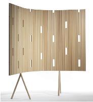 Cloison Outline de Gàrsnàs, pour une ambiance «cocooning», qui facilite la communication et définit l'espace propre à chacun. Sa structure ne bloque pas la luminosité.