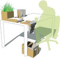 Le range document imaginé par l'étudiant Louis-Marie Schulthess permet de séparer et de ranger jusqu'à 200 feuilles vierges et 100 feuilles imprimées.