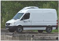 Les véhicules frigorifiques sont équipés de parois isolantes et d'un bloc réfrigérant permettant de maintenir la température dans une cellule isotherme.