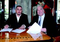 Jean-Luc Lattuca, président du SNES, et Claude Tarlet, président de l'USP, ont signé en mars dernier une déclaration commune pour sortir de la crise et relancer la croissance du secteur de la sécurité privée.