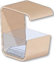A la fois corbeille à papier et siège de , bureau, «Pick & Sit» a été conçu par deux étudiantes de l'école Jean Monnet située aux Herbiers, en Vendée.
