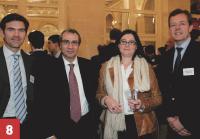 La direction achats d'Essilor International, en compagnie d'Ayrald Berthod (à droite, Cristal Décisions).
