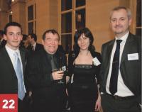 Jean-Claude Michel (au centre) et Xavier Riehl (à droite, Konica Minolta) en compagnie de Romain Rivière (à gauche) et Nathalie Costa (au centre, Décision Achats).