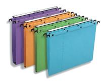 Conçus pour être solides et résistants, les dossiers suspendus «Polypro V Ultimate», de L'Oblique AZ, permettent de classer des documents volumineux.