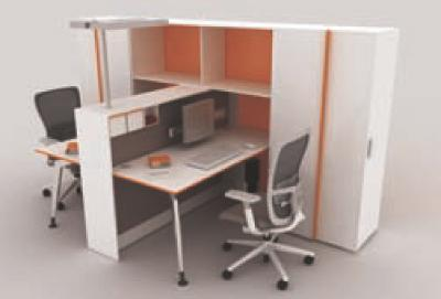 Le mobilier de bureau fa onne les open spaces de demain for Meuble bureau petit espace