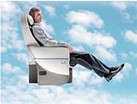 La nouvelle classe «Premium Voyageur» d'Air France offre 40 % d'espace en plus qu'en classe économique sur des vols long-courriers.