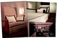A bord de l'A380, la cabine «Suite Singapore Airlines» permet aux voyageurs d'affaires de bénéficier d'un véritable lit.