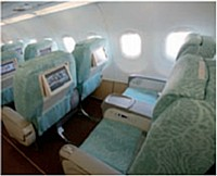 La classe business d'Ethiad Airways mise sur le divertissement avec un matériel dernier cri.