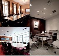 Ecran plat, Internet : les centres d'affaires proposent désormais des salles de réunion haut de gamme.
