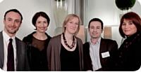 Olivier Menuet, Aurélie Camus, Xavier Lacaze et Anne Bernet (SNCF) ont reçu le Prix spécial de la Rédaction des mains de Stéfanie Moge-Masson (2e à gauche), directrice des rédactions d'Editialis.