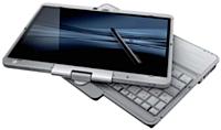 ii Sorti en juillet 2010, le modèle EliteBook 2740 P d'HP (à partir de 1690 euros HT) intègre un écran multitouch convertible en tablette.