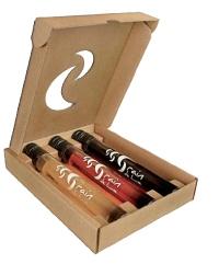Vindemiatrix propose sa gamme «Grain de lune» qui se présente dans des tubes en verre de 10 cl. Prix: 16,08 euros HT.