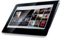 Ci-contre, la Sony Tablet S dotée d'un écran de 9,4 pouces. En haut, à droite, la Sony Tablet P.