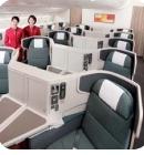 Cathay Pacific propose une nouvelle génération de cabines dont les sièges peuvent pivoter.