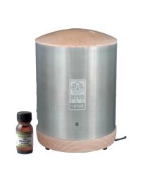 Le diffuseur d'huiles essentielles Aerom Pro, en bois massif et inox.