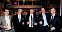 14 Thomas Andrieu (Vins + Vins), Jean-Marc Dandurand (Epsa), Philippe Pellegrin (STMicroelectronics), Denis Heuze (Vins + Vins) et Nicolas Martino (Carlson Wagonlit Travel)