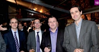 10 Marc Sauvage (Bouygues Telecom), Grégoire Mary (Electrogeloz), Sylvère Chamoin (Stade de France) et Antoine Doussaint (La Poste)