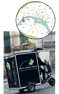Le service de distribution de Vert chez Vous combine vélos électriques et péniche-entrepôt