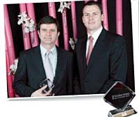 Olivier Debargue, décideur Achats 2012, Franck Le Tendre, directeur général, SynerTrade (à droite).