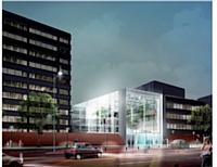 Le futur siège international de L'Oréal sera composé de vastes espaces verts et de larges ouvertures vers l'extérieur.