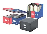 A base de matières végétales, les boîtes Snap & Stone de Leitz sont transportées à plat pour limiter le nombre de livraisons et donc leur impact écologique.