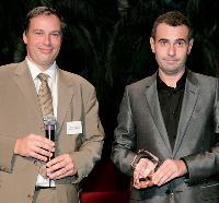 François Copigneaux (ColiPoste) a remis le 1er prix à Michel Campan.
