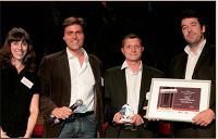 Frédérick Bénichou (Isobar/Planète Interactive), Aymeric Bauguin et Sébastien Begel (HDS Digital)