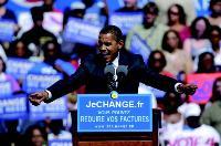 Pour sa campagne de communication le site s'est appuyé sur Barack Obama ,symbole du changement aux Etats-Unis.