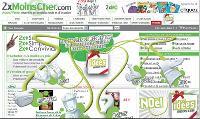 2xMoinscher a profité de Noël pour proposer une page d'accueil plus dynamique. Un axe qui va être renforcé en 2009.