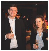 Laurent Haynez (Groupe Galeries Lafayette) et Julie London (BNP Paribas)