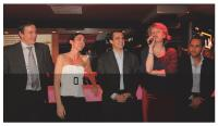 François Copigneaux (ColiPoste), Catherine Barba (Cybermonday, Malinea), Marc Lolivier (Fevad), Christine Lorimy (ColiPoste) et Jean-Philippe Cartier (AutoReflex.com)
