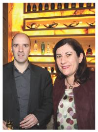 Olivier Carette (Groupe Galeries Lafayette) et Marie-Christine Levet (NextRadio)