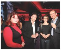 Vanessa de Lauzainghein et Roland Raymond (Fondation d'Auteuil), Stéphanie loan (Agence Maxyma) et Xavier Delattre (Fondation d'Auteuil)