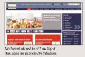 Nettorvet.dk est le n°1 du Top 5 des sites de Grande Distribution.