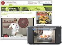 Le site Atelierdes chefs.fr propose, entre autres, 5 000 recettes des vidéos, des trucs et astuces...