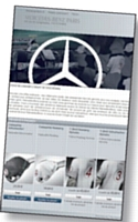 Mercedes acc�l�re sur le Web