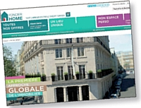 Le site Foncier Home présente les solutions immobilières du Crédit Foncier.