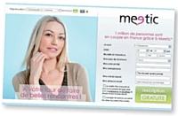Le nouveau look de Meetic fera penser à la home page de Facebook.