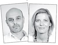 Sébastien Fabre et son associée, Sophie Hersan.