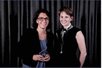 Nathalie Balla, p-dg de La Redoute et Tiphaine Elise, responsable commerciale grand comptes de DHL Global Mail.
