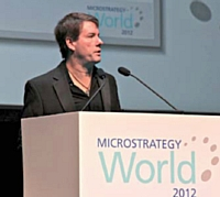 Michael J. Saylor, CEO et fondateur de la firme Microstrategy, est intervenu devant un large public.