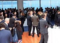 Le 4 avril à midi, les participants étaient conviés à un cocktail à l'Espace Le Génois du Grimaldi Forum.