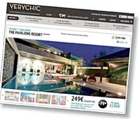 Originalité du site VeryChic: il est entièrement dédié à la prestation hôtelière très haut de gamme.