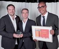 Le prix Marketing on line a été remis par Bruno Nicole (LaSer), à droite, à Michael S. Levy (Publicis modem) et Stéphane Serreau (ADL Partner).