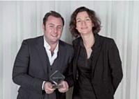 Marc Menasé, Menlook.com, et Delphine Mallet, Chronopost International.